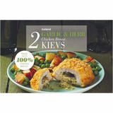 Iceland 2 Garlic & Herb Chicken Breast Kievs 250g
