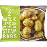 Iceland 2 Garlic & Parsley Baby Potato Steam Bags 300g