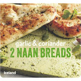 Iceland 2 Garlic and Coriander Naan Breads 220g