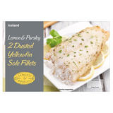 Iceland 2 Lemon & Parsley Dusted Yellowfin Sole Fillets 250g