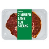Iceland 2 Minted Lamb Leg Steaks 340g