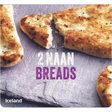 Iceland 2 Naan Breads 220g