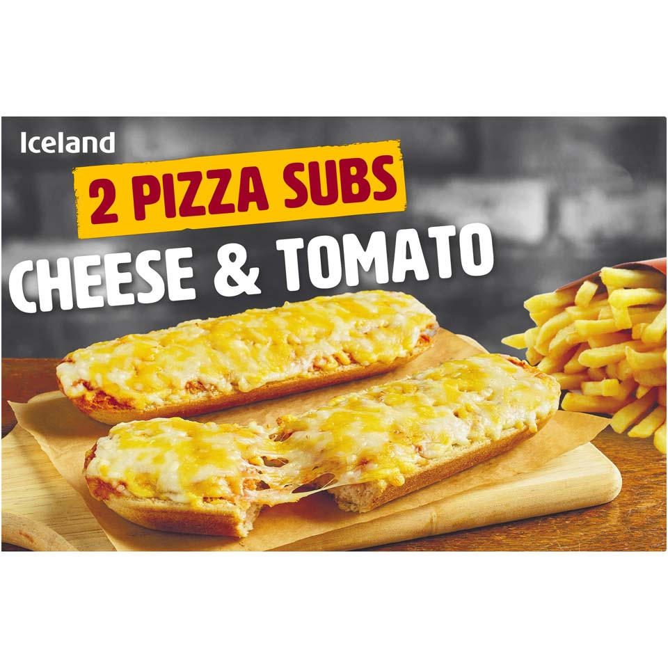 Iceland 2 Pizza Subs Cheese Tomato 270g Pizza Snacks