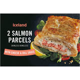 Iceland 2 Salmon Parcels with Cheese & Dill Sauce 280g