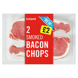 Iceland 2 Smoked Bacon Chops 300g