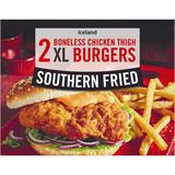 Iceland 2 Southern Fried Boneless Chicken Thigh XL Burgers 300g