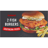 Iceland 2 Southern Fried Fish Burgers 220g