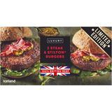 Iceland 2 Steak & Stilton® Burgers 284g