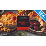 Iceland Luxury 2 Sticky Rib Pies 440g