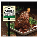 Iceland 2 Tendercooked Extra Large Lamb Shanks with a Mint and Rosemary Gravy 900g