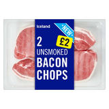 Iceland 2 Unsmoked Bacon Chops 300g