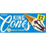 Iceland 2 Vanilla Flavour King Cones 520ml