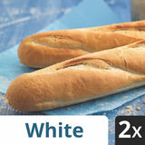 Iceland 2 White Part Baked Baguettes