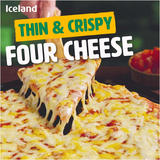 Iceland Four Cheese Thin Pizza 300g