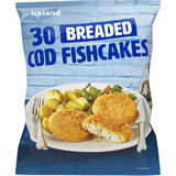 Iceland 30 Breaded Cod Fishcakes 1.26kg
