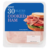 Iceland 30 Cooked Ham Slices (Average) 350g