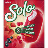 Iceland 3 Solo Berry Burst Lollies 300ml