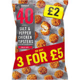 Iceland 40 (Approx.) Salt and Pepper Chicken Popsters 400g