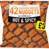 Iceland 42 (approx.) Hot and Spicy Chicken Breast Nuggets 800g