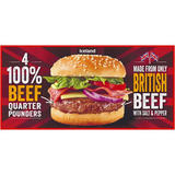 Iceland 4 100% British Beef Quarter Pounders  454 g