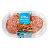 Iceland 4  Quarter Pounders Beef Burgers 454 g