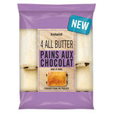 Iceland 4 All Butter Pains Aux Chocolat 306g