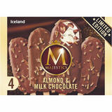 Iceland 4 Almond & Milk Chocolate Majestics 248g