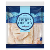 Iceland 4 Atlantic Cod Fillets 450g