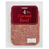 Iceland 4 (Average) Corned Beef Slices 100g