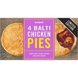 Iceland 4 Balti Chicken Pies 568g