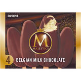 Iceland 4 Belgian Milk Chocolate Majestics 480ml