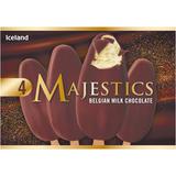 Iceland 4 Belgian Milk Chocolate Majestics 480ml