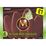 Iceland 4 Belgian Mint Chocolate Majestics 480ml