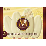 Iceland 4 Belgian White Chocolate Majestics 480ml
