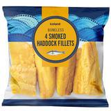 Iceland 4 Boneless Smoked Haddock Fillets 460g
