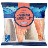 Iceland 4 Boneless Wild Pink Salmon Fillets 480g