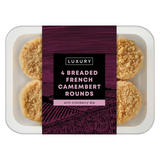 Iceland 4 Breaded French Camembert Rounds with Cranberry Dip 230g