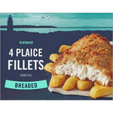 Iceland 4 Breaded Plaice Fillets 500g