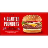 Iceland 4 British Beef Quarter Pounder Burgers 454 g