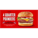 Iceland 4 British Beef Quarter Pounders  454 g