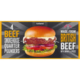 Iceland 4 British Beef Smokehouse Quarter Pounders 454g