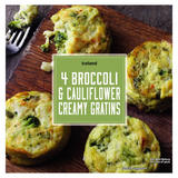 Iceland 4 Broccoli & Cauliflower Creamy Gratins 480g