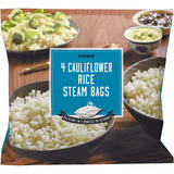 Iceland 4 Cauliflower Rice Steam Bags 600g
