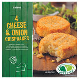 Iceland 4 Cheese & Onion Crispbakes 320g