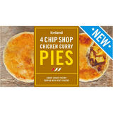 Iceland 4 Chip Shop Chicken Curry Pies 568g