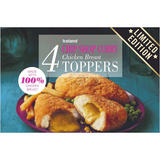 Iceland 4 Chip Shop Curry Chicken Breast Toppers 400g