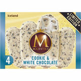 Iceland 4 Cookie & White Chocolate Majestics 240g