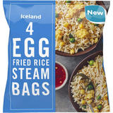 Iceland 4 Egg Fried Rice Steam Bags 500g
