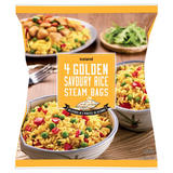 Iceland 4 Golden Savoury Rice Steam Bags 600g