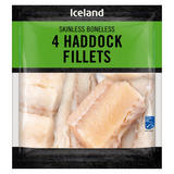 Iceland 4 Haddock Fillets 400g